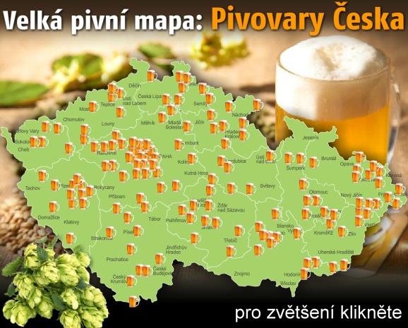 Sanitace Gastro Mapa Pivovary Ceska